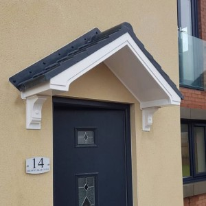 Apollo GRP Fibreglass Overdoor Porch Canopy