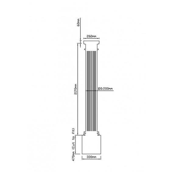 Barcelona Fluted Tapered GRP Greek Roman Column Pillar