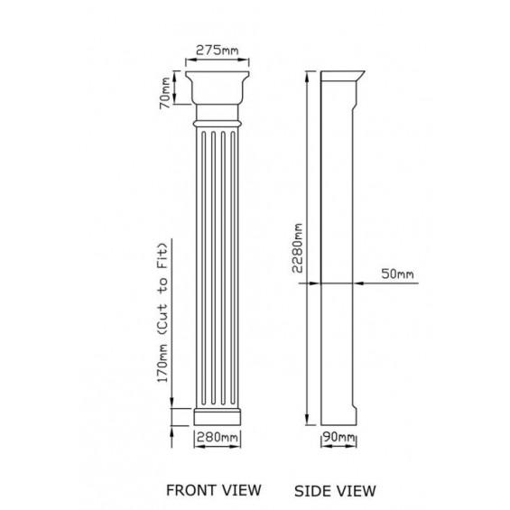 Vienna fluted GRP Door Columns pillasters pillars