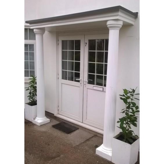 Sienna GRP Fibreglass Porch Door Canopy Entrance Upgrade Kit