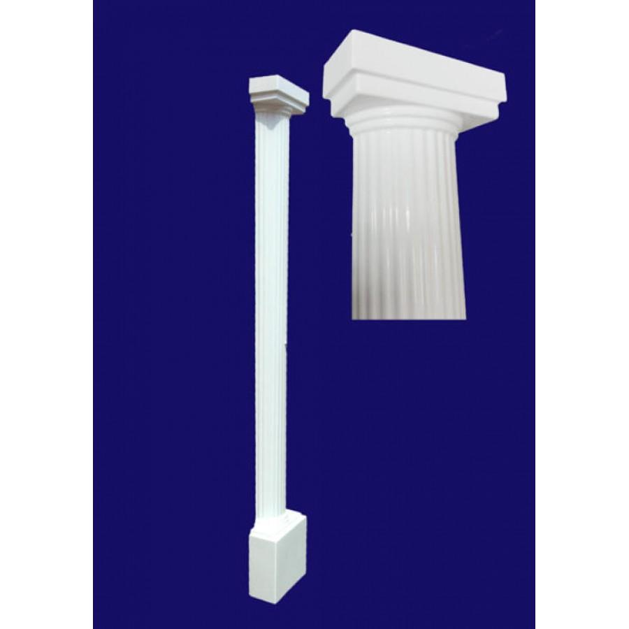 Palma fluted grp half round column for Round columns
