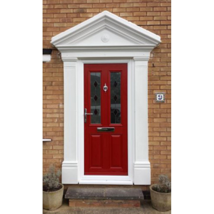 Grp door surrounds victorian style odysseus grp door - Decorative exterior door pediments ...