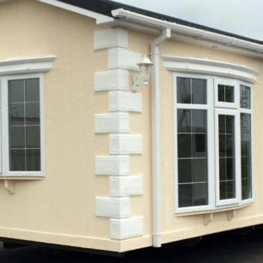 8ft Brick Effect Corner Texture Faux Quoins For Park Home